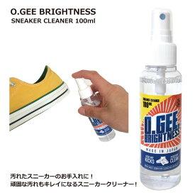 O.GEE BRIGHTNESS SPRAY オージーブライトネス スプレー スニーカークリーナー シューズクリーナー 靴磨き シューズケア クリーニング