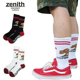 ZENITH 靴下 CALIFORNIA REPUBLIC カリフォルニア ソックス ベアー メンズ レディース