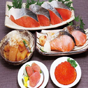 紅鮭 切身 魚卵 詰め合わせ 魚卵3点セット と 鮭 切り身 詰合せ 価格 4968円