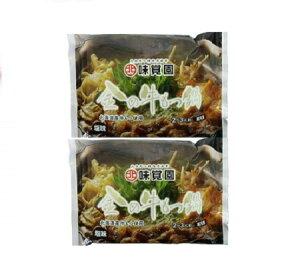 もつ鍋 牛もつ 北海道産 牛もつ 使用 もつ鍋 味覚園の金の牛もつ鍋 塩味 たれ 付き 1袋 355g 2袋セット 価格 1980円