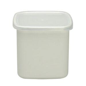 野田琺瑯White Series スクウェアL 《シール蓋付》 WS-L
