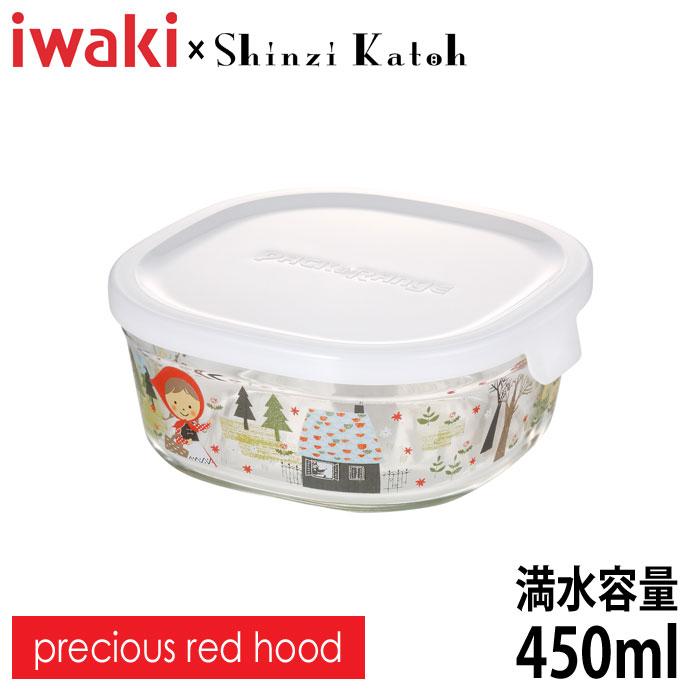 iwaki(イワキ) Shinzi Katoh パック&レンジ precious red hood 満水容量450ml