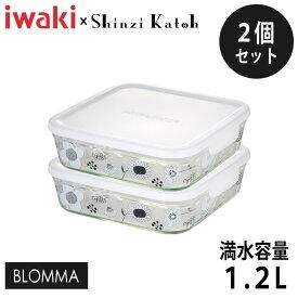 iwaki(イワキ) Shinzi Katoh パック&レンジ BLOMMA 満水容量1.2L 2個セット