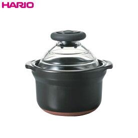 ハリオ(HARIO) フタがガラスのご飯釜 1合用 GNN-150B
