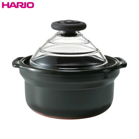 ハリオ(HARIO) フタがガラスのご飯釜 3合用 GNN-200B