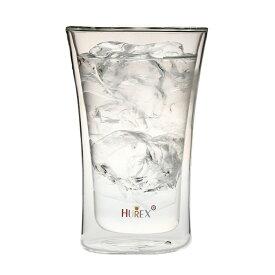 ヒューレックス 耐熱ダブルウォール ビアグラス 容量:400ml