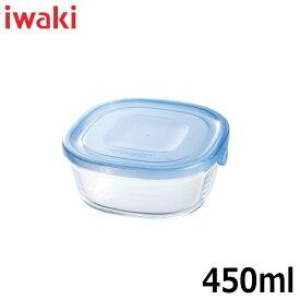 iwaki(イワキ) 保存容器 NEWパック&レンジ(アクアブルー) 角型 満水容量450ml