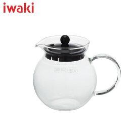 イワキ (iwaki) ジャンピングティーポット(ブラック)ガラスの把手でおしゃれです♪【楽ギフ_包装】【楽ギフ_のし】KT894T-BK、