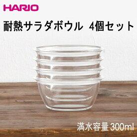 HARIO(ハリオ)耐熱サラダボウル 4個セット 満水容量300ml