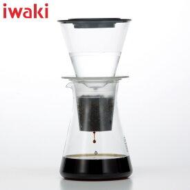 iwaki(イワキ) ウォータードリップコーヒーサーバー 実用容量440ml 水出しコーヒー 珈琲 耐熱ガラス 大人気 KT8644-CL1 ティー&コーヒー cold brew coffee