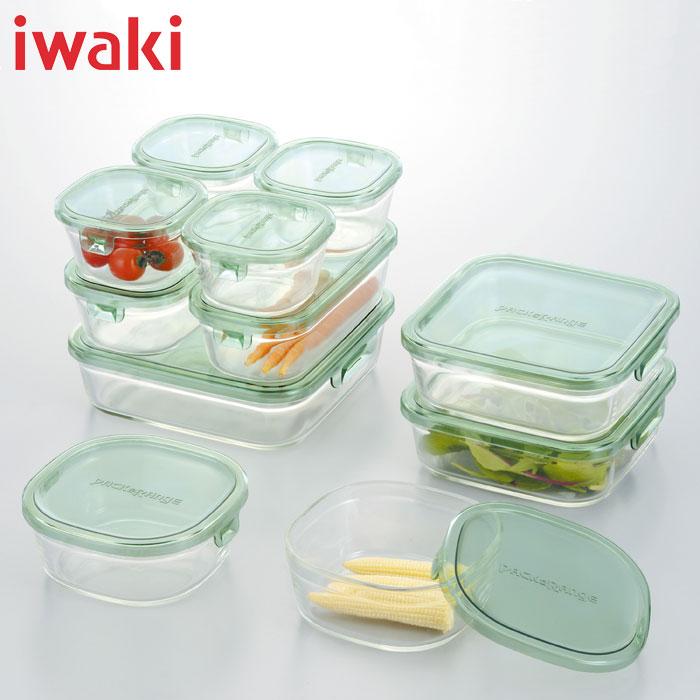 iwaki(イワキ) ギフトセット パック&レンジ デラックスセット(グリーン)