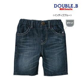 ミキハウス正規販売店/ミキハウス ダブルビー mikihouse ★Everyday Double_B★6分丈デニムパンツ(70cm-150cm)