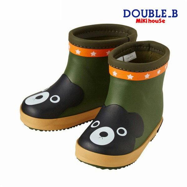 ミキハウス ダブルビー mikihouse つま先にベア★レインブーツ(長靴)(13cm-16cm)