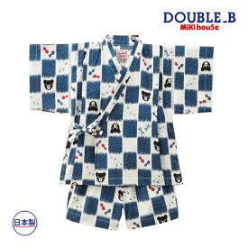 ミキハウス正規販売店/ミキハウス ダブルビー mikihouse とんぼ&金魚柄甚平スーツ(100cm・110cm)