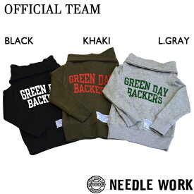 ニードルワーク(NEEDL WORK)OFFICIAL TEAM GREEN DAY WARM HOODEI(100cm・110cm・120cm・130cm・140cm)