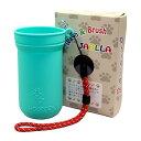 ペットの足洗いカップ&ブラシJABLLA(ジャブラ)【カラー:ミントグリーン】特許取得のオンリーワングッズ!ジャブラ…