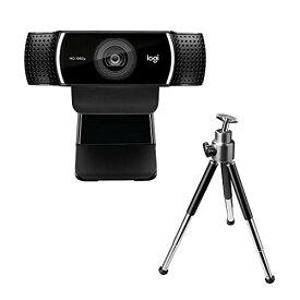 ロジクール ウェブカメラ C922n ブラック フルHD 1080P ウェブカム ストリーミング 自動フォーカス ステレオマイク 撮影用三脚付属 国内正規品