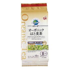 【最安値に挑戦】OSK オーガニックはと麦茶 自然の実り 144g(8g×18袋)【小谷穀粉】