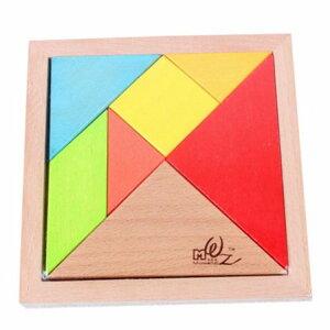 木製パズル 立体パズル 組み合わせ 木のおもちゃ 知育玩具 教育 脳トレ シルエットパズル 木のぬくもり カラフル木製パズル 立体パズル ブロック 7ピース PZU7M 送料無料