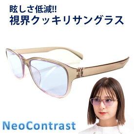 ネオコントラスト メンズ レディース 女性 サングラス 眩しさ 改善 眼病予防 白内障 術 後 予防 まぶしさ 緩和 加齢 ライト 眩しい まぶしい 防眩 軽減 アイケア 用 紫外線 対策 uvケア 術後 白内障予防 おすすめ uvカット 鯖江