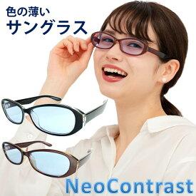 ネオコントラスト ブルーレンズ レディース メンズ うすい色 鯖江レンズ NeoContrast おしゃれ 薄い 色 の サングラス 青 ライトカラー 眩しさ 改善 UVカット クリアレンズ 遮光 透明 レンズ アイケア 色弱 UVケア おすすめ 色 が 薄い めがね まぶしい 防眩 光 メガネ 眼鏡