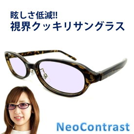 ネオコントラスト メンズ サングラス レディース 女性 眩しさ 改善 まぶしさ 緩和 加齢 ライト 眩しい まぶしい 防眩 軽減 眼病予防 白内障 術 後 予防 アイケア 用 紫外線 対策 uvケア 術後 白内障予防 おすすめ uvカット 鯖江