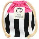 ローズストライプ巾着 S HOPPE(ホッペ)【日本製 手作り 入園入学準備 入園入学グッズ 通園通学 コップ袋 コップ入れ…
