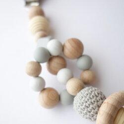 fikaフィーカholderclassy(歯固めおしゃぶりホルダー)木製新生児シリコンビーズ赤ちゃんおもちゃ出産祝いギフト