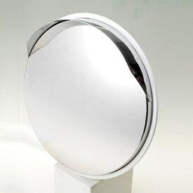 ステンレス製カーブミラー(ガレージミラー) HPS-丸30白