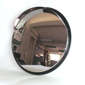 ステンレス製カーブミラー(ガレージミラー) HPS-丸45黒