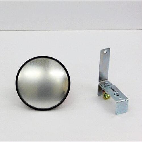 カーブミラー (ガレージミラー) HP-丸10クランプ 黒