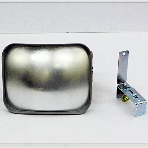 カーブミラー(ガレージミラー) HP-角20クランプ グレー