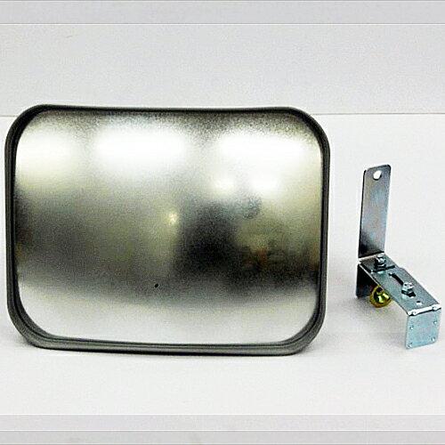 カーブミラー(ガレージミラー) HP-角30クランプ グレー