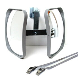 【3980円以上 送料無料 】ガレージミラー カーブミラー HP-角20ツイン ベルトS 2面鏡 角型230×190ベルト式取付タイプ