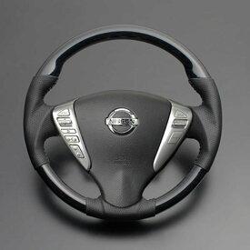 NV350 キャラバン E26 FEGGARI フェガーリ 黒木目 ハイグレード ウッド&レザーステアリング ガングリップ LS08AN