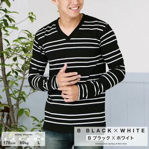 ◆ボーダーロンT◆ボーダーメンズカットソートップス長袖Tシャツ春服春夏春物ジョゼJOZE