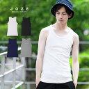 タンクトップ メンズ おしゃれ XL 白◆テレコタンクトップ◆テレコタンクトップ 夏服 夏 メンズファッション 無地 黒
