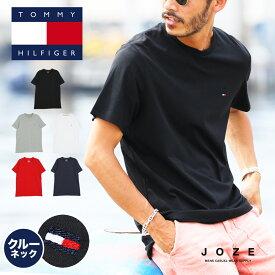 ◆TOMMY HILFIGER(トミー ヒルフィガー)Basic Cotton Core Flag◆ブランド Tシャツ メンズ レディース カップル クルーネック 半袖 Tシャツ おしゃれ ルームウェア 部屋着 トップス メンズファッション 夏 夏服 綿 ブラック ホワイト グレー ネイビー 大きい S-XXL