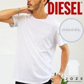 ◆DIESEL(ディーゼル) ワンポイントロゴTシャツ◆ブランド Tシャツ メンズ おしゃれ ティーシャツ 半袖 カットソー トップス メンズファッション 夏 夏服 夏物 クルーネック 綿 綿100% ホワイト