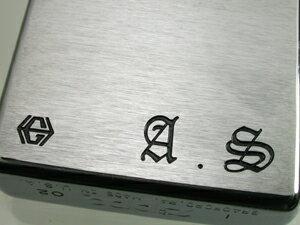 Option-イニシャル彫刻(スタンダード、ブラックアイスZIPPO)