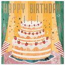 [マラソン期間中割引クーポンあり] バースデーカード レコードミュージックカード ケーキ B138-19 学研ステイフル レ…