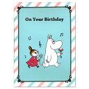 バースデーミュージックカード ムーミン 花 B58-582 お誕生日お祝い 二つ折りグリーティングカード 学研ステイフル