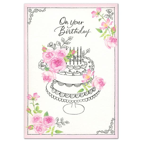 バースデーオルゴールカード クラシック花 EAO-715-069 ホールマーク グリーティングカード バースデーカード Birthday Card お誕生お祝い (ZR)