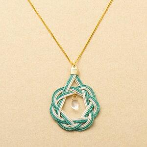 水引ネックレス 相生結び 薄青 うすあお 2692020 水引アクセサリー みずひき ギフト プレゼント 装飾品 エヌビー