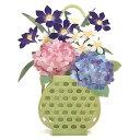初夏カード P4909 初夏のあみかご 立体カード 紫陽花柄カード サンリオ
