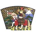 春カード/端午の節句立体メロディカード 扇型屏風の前に騎馬大将 S2509 立てて飾れます サンリオ