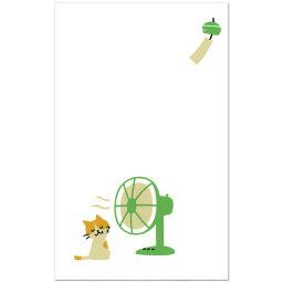 不夏天花紋pochi袋小貓和電風扇2張裝541-3紙幣折斷而進入的尺寸夏天的零用錢系列天的第一堂