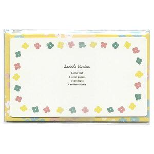 リトルガーデン レターセッ フラワー LGLS-03 (3) 便箋8枚封筒4枚アドレスシール4枚 リュリュ