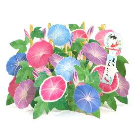 グリーティングカード 多目的 夏カード レーザーカット 箱形海の中 S4247 サンリオ 立体カード ポップアップ 飛び出す 多用途 サマーカード 暑中見舞い なつ サマー 季節カード