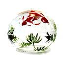 ガラス風鈴 くりすたる風鈴 金魚 R-06 会津喜多方 蒔絵仕上げ 手作り風鈴 木之元